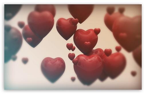 Download Valentines Hearts UltraHD Wallpaper