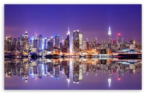 Download Hong Kong Reflection UltraHD Wallpaper