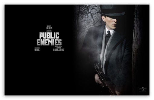 Download Christian Bale Public Enemies UltraHD Wallpaper