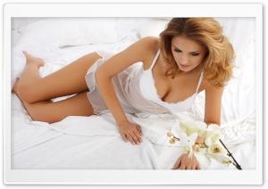 Romantic Lady in White