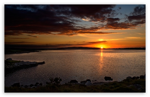 Download Sunset Above The Lake UltraHD Wallpaper