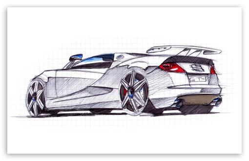 Download Seat Cupra GT Sketch 1 UltraHD Wallpaper