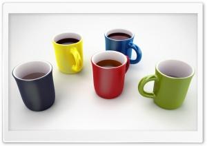 Colorful Coffee Mugs 3D