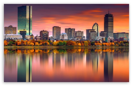 Download City, Fall UltraHD Wallpaper