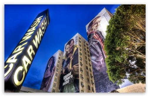 Download GTA For Street Ad UltraHD Wallpaper