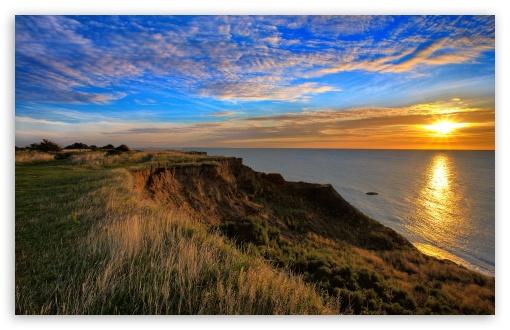 Download Ocean View At Sunset UltraHD Wallpaper