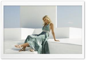 Danielle Knudson In Blue Dress