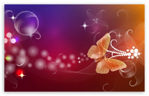 Download Abstract Butterfly Illustration UltraHD Wallpaper