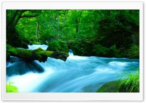 Oirase Mountain stream, Japan