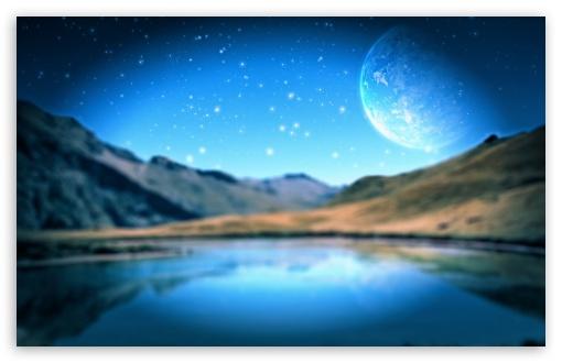 Download Space Lake UltraHD Wallpaper