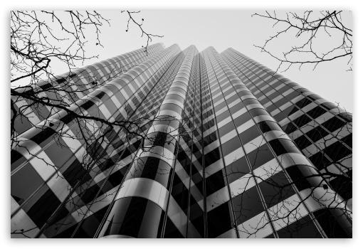 Download Skyscraper Black and White UltraHD Wallpaper