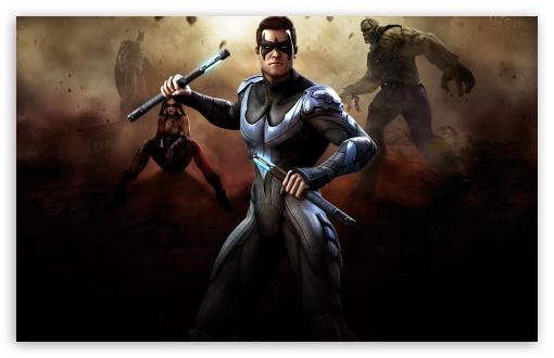 Download Injustice Gods Among Us - Nightwing UltraHD Wallpaper