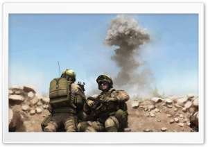 War Soldiers Painting