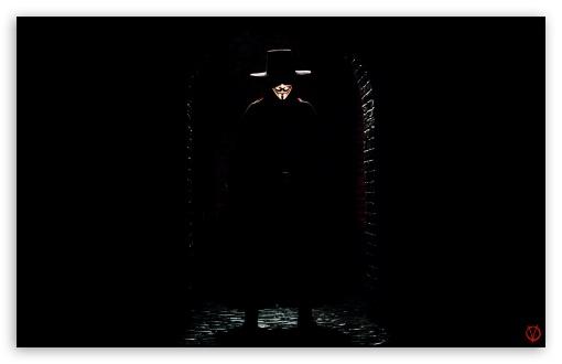 Download V For Vendetta Man UltraHD Wallpaper