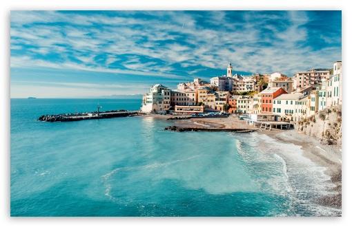 Download Coastal Town UltraHD Wallpaper