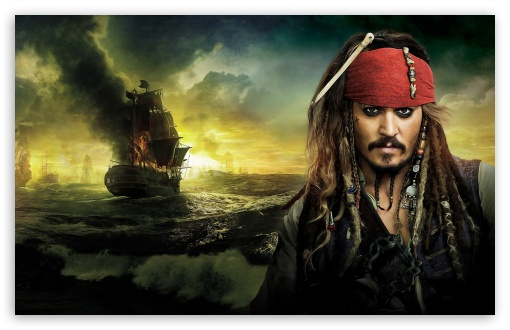 Download Johnny Depp, Pirates Of The Caribbean On... UltraHD Wallpaper