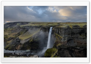 Iceland Waterfall Panoramic View