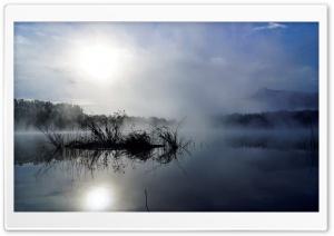 Sunrise Foggy Lake