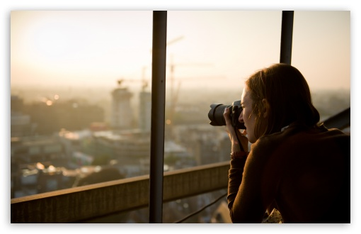 Download Photographer Taking A Picture UltraHD Wallpaper