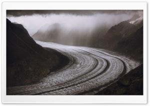 Aletsch Glacier, Alps...