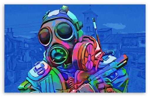 Download CSGO - Toxic - Blue UltraHD Wallpaper