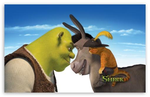 Download Shrek, Donkey And Puss, Shrek The Final Chapter UltraHD Wallpaper