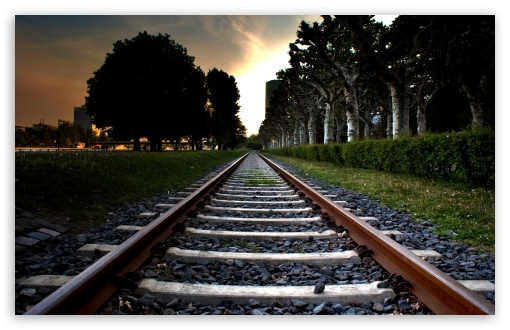 Download Railroad Track UltraHD Wallpaper