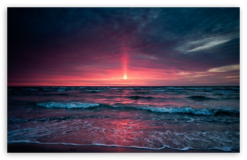 Download Pinkish Sunset UltraHD Wallpaper