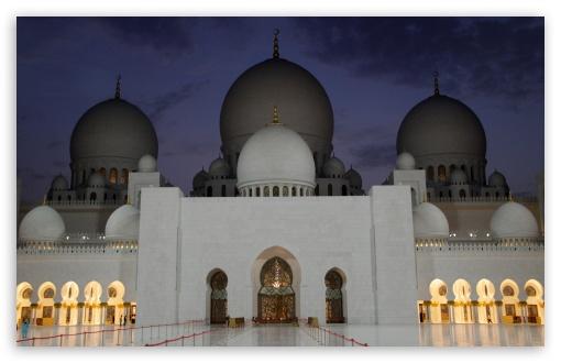 Download Abu Dhabi Mosque UltraHD Wallpaper