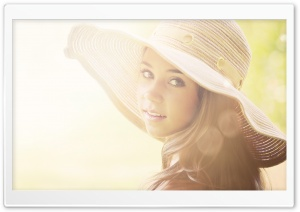 Girl With Summer Hat