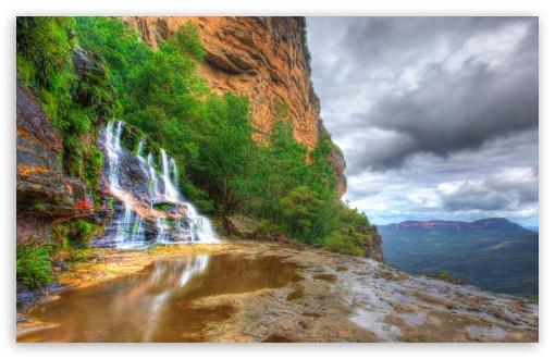 Download Katoomba Falls, Blue Mountains National Park,... UltraHD Wallpaper