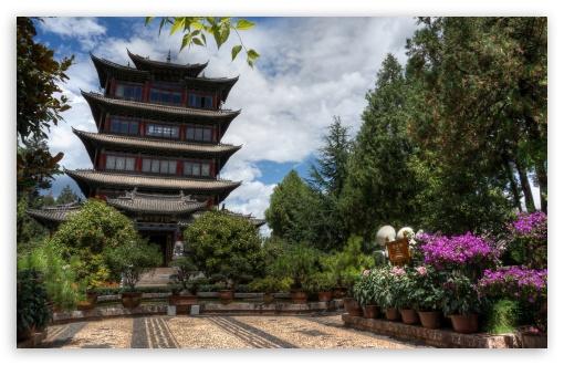 Download Hilltop Pagoda - Lijiang, China UltraHD Wallpaper