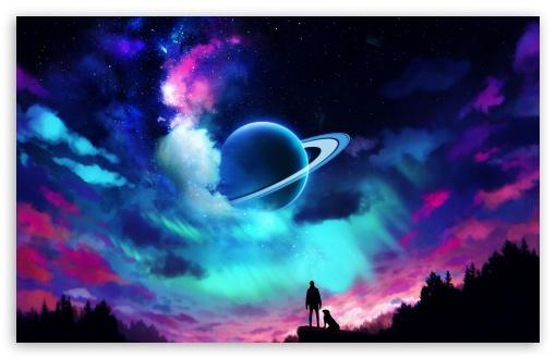 Download Aurora sky UltraHD Wallpaper