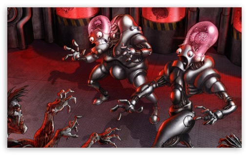 Download Aliens vs Zombies UltraHD Wallpaper