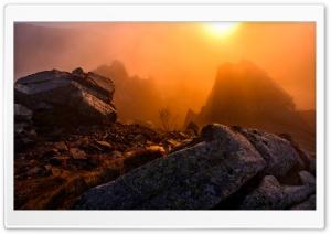 Winter Sunrise Mountain Mist