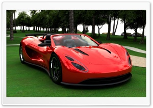 3D Red Supercar