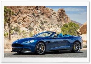 Blue Aston Martin Vanquish Rock
