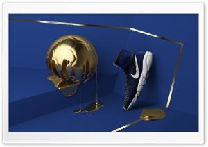 Golden Football Ball, Nike...
