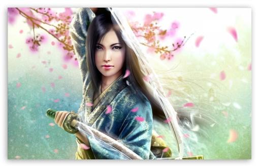 Download Woman Samurai UltraHD Wallpaper