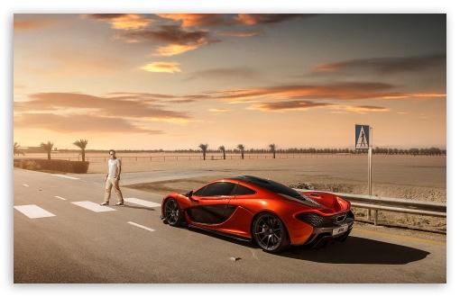 Download 2014 McLaren P1 Orange UltraHD Wallpaper