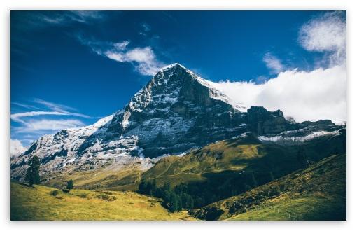 Download Eiger Mountain, Grindelwald, Switzerland... UltraHD Wallpaper