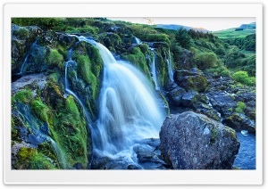 The Loup of Fintry waterfall...