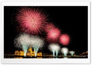 Fireworks from Hungarys birthday