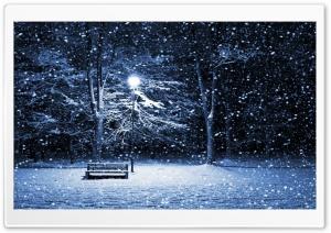 Snow Bench Lamppost