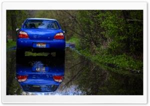 Blue Subaru Reflection