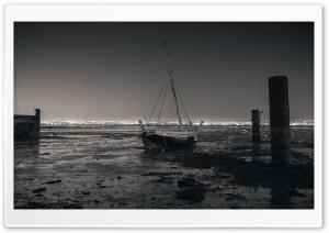 Low Tide Sailboat