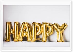 Happy Golden Balloons
