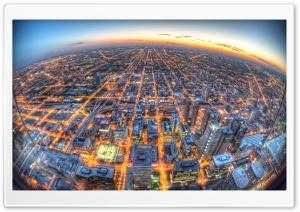 Chicago Aerial View Fisheye