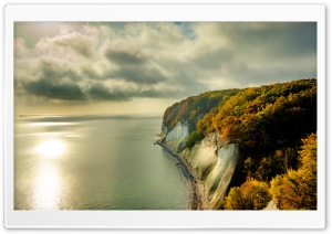 Chalk Cliffs dropping to the...
