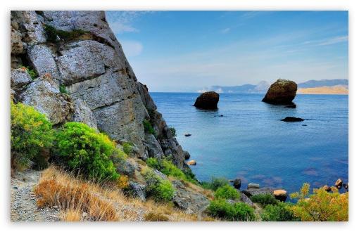 Download Sea Rocky Coast UltraHD Wallpaper